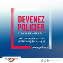 La Police Nationale recrute !